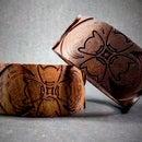 CNC Engraved Wooden Bangle