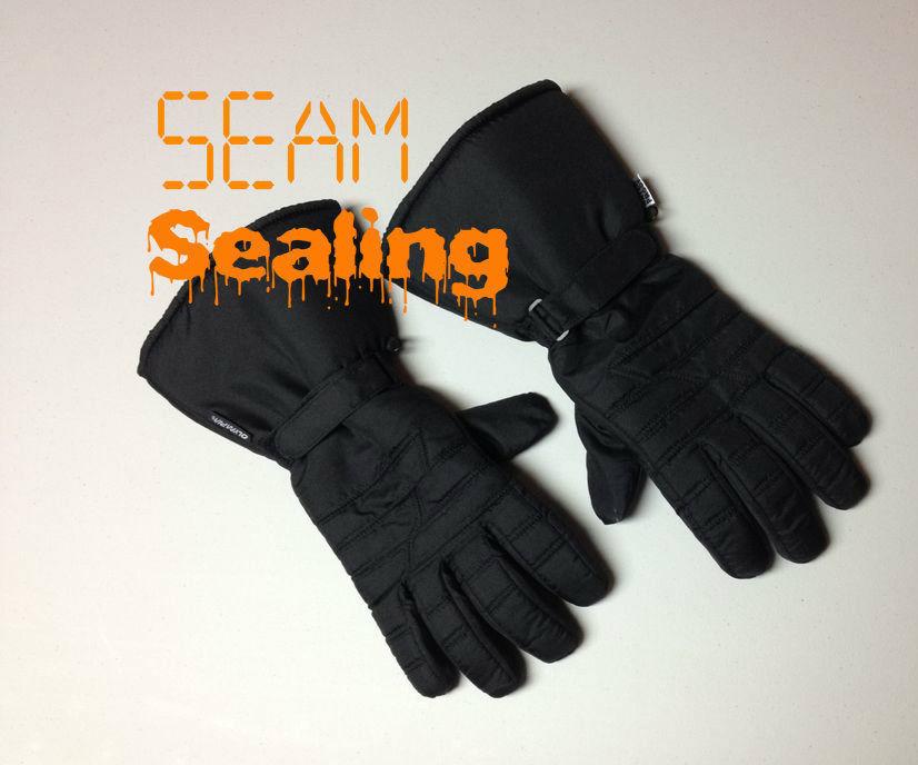 Seam sealing motorcycle gloves