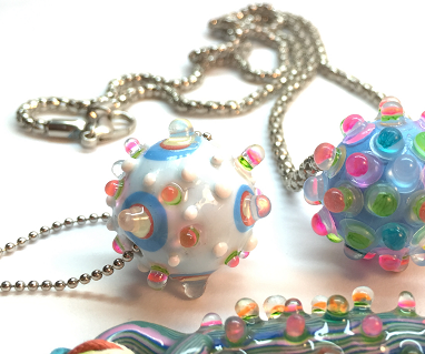 Faux glass beads