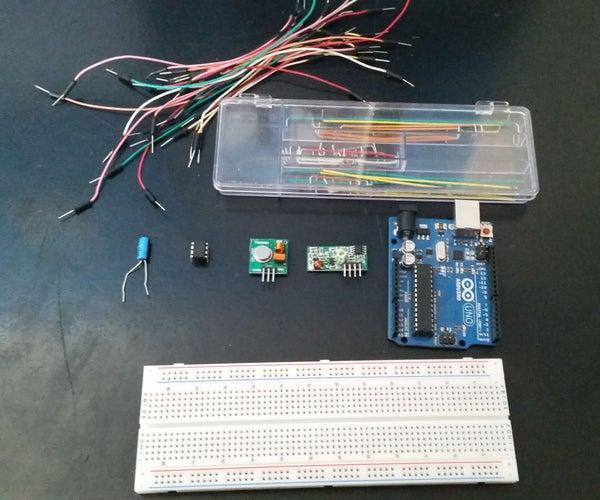 Attiny85 RF Transmitter to Arduino Uno Receiver (Manchester Library /w Arduino 1.0)
