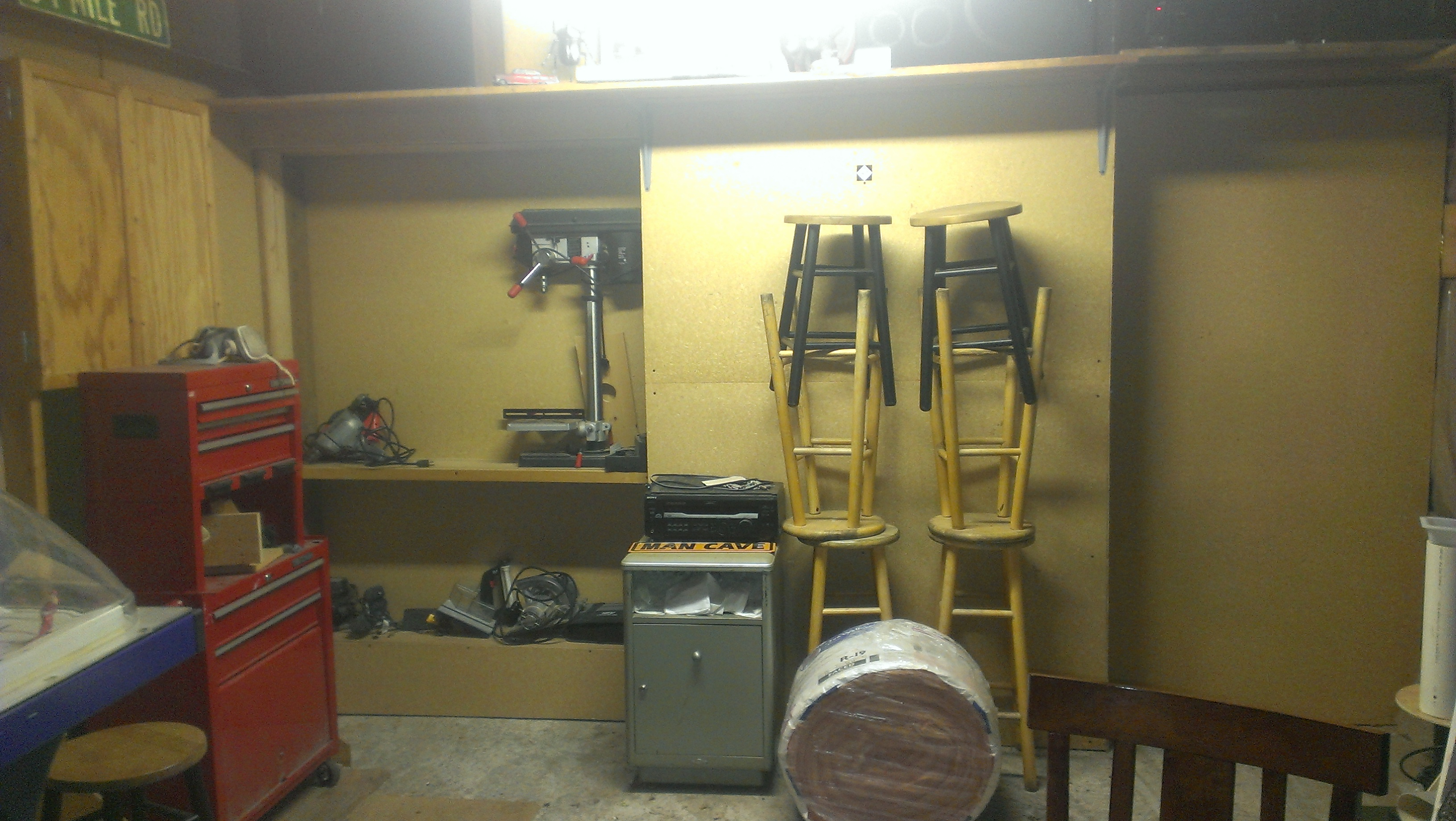 Workshop secret door/shelving