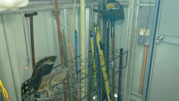 Use for Old Wine Rack to Be a Tool Rack