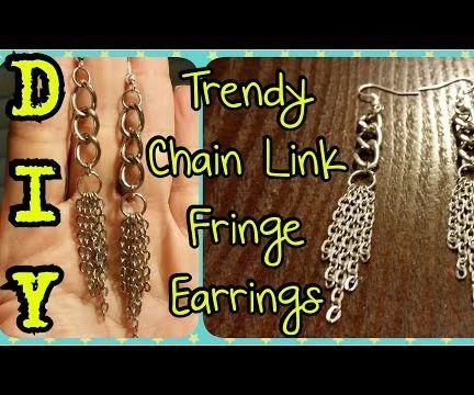 DIY Trendy Chain Link Fringe Earrings