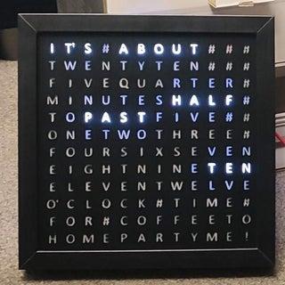 IKEA Ribba Word Clock