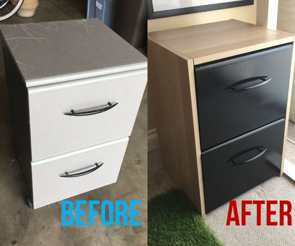 Turn Your Stinky Old Filing Cabinet Into a Modern Piece of Art