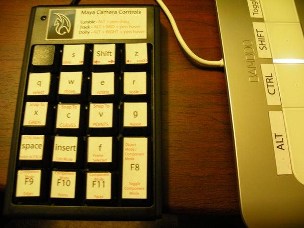 Use a USB Number Pad for Maya Shortcuts.