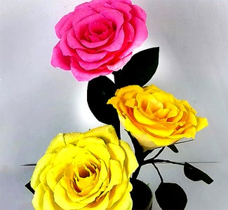 How to Make a Paper Rose Flower Decoration?