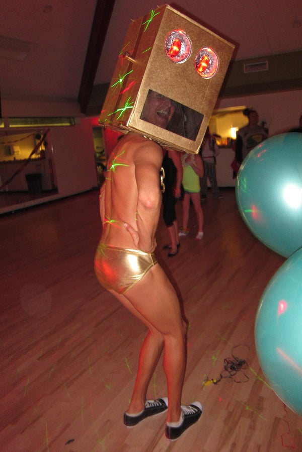 Hours of Research and Development to Bring You....  LMFAO ROBOT COSTUME!!!