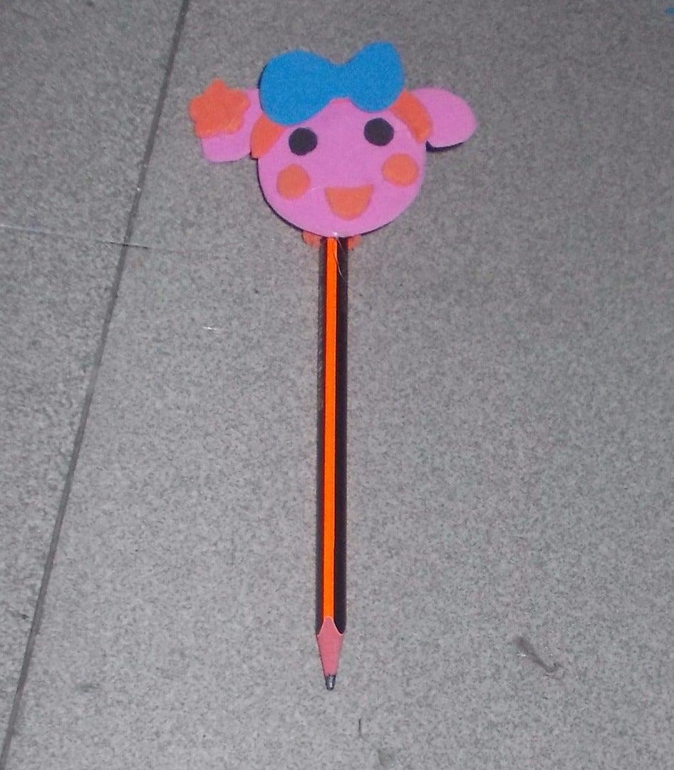 Miss La Sen Foam Pencil Topper