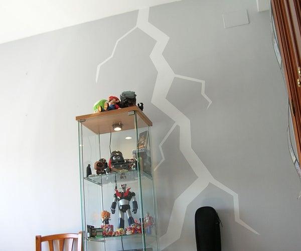 Lightning Bolt in a Wall