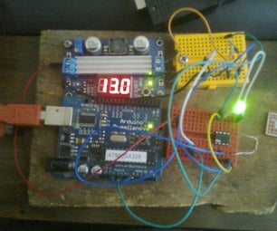 Voltage Monitor on RGB LED With ATTiny85