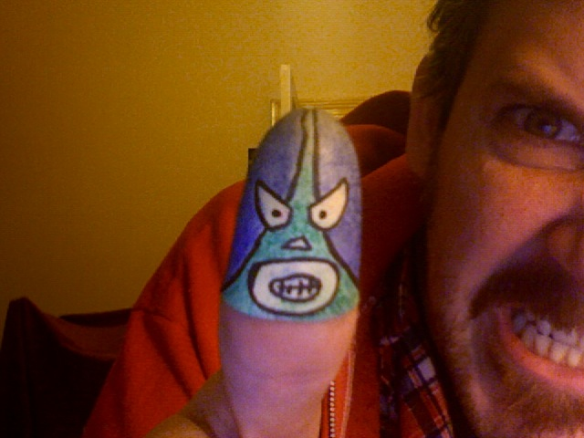 Lucha Libre masks for your thumb
