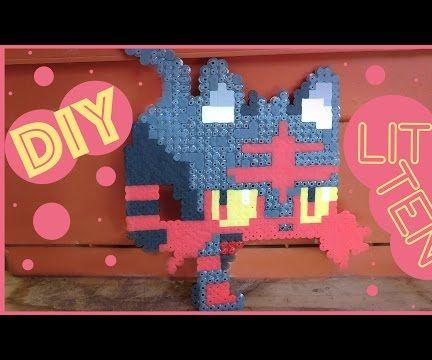 DIY: Litten from Pokemon | Bead Sprites (Perler/Hama/Arktal Beads)