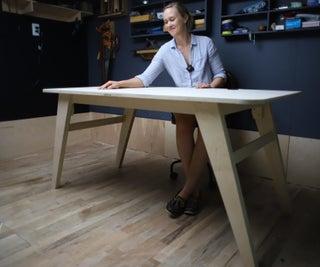 DIY Modern Desk Made W/ 1 Sheet of Plywood