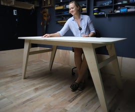 DIY Modern Desk Made W/ 1 Sheet of Plywood