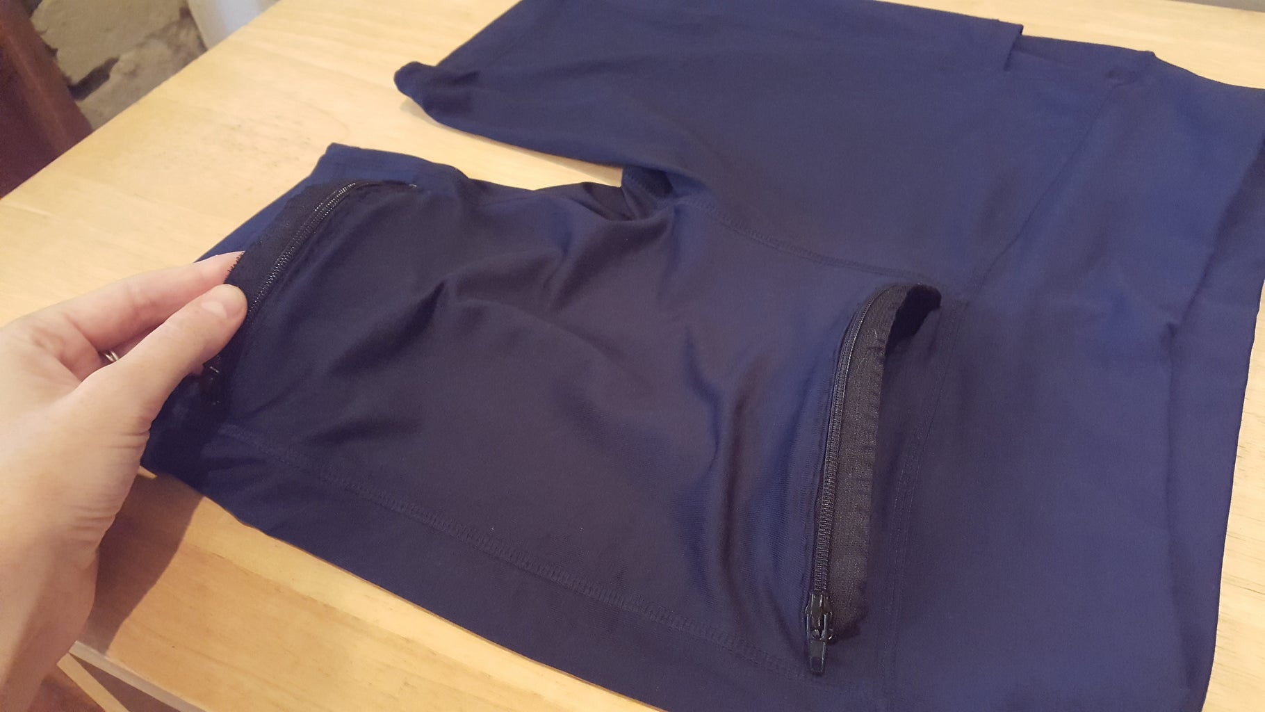 Line Up the Bottom Zipper and Stitch It Into Place