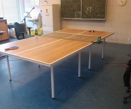 Upcycling Click Laminate to a Tabletennis Table
