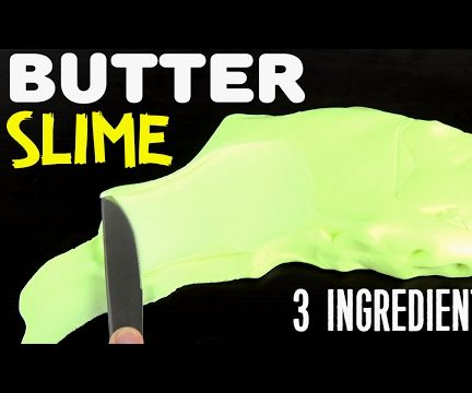 Most Easy BUTTER SLIME With 3 INGREDIENTS