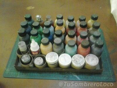 Organizador De Pinturas (materiales Reusados)