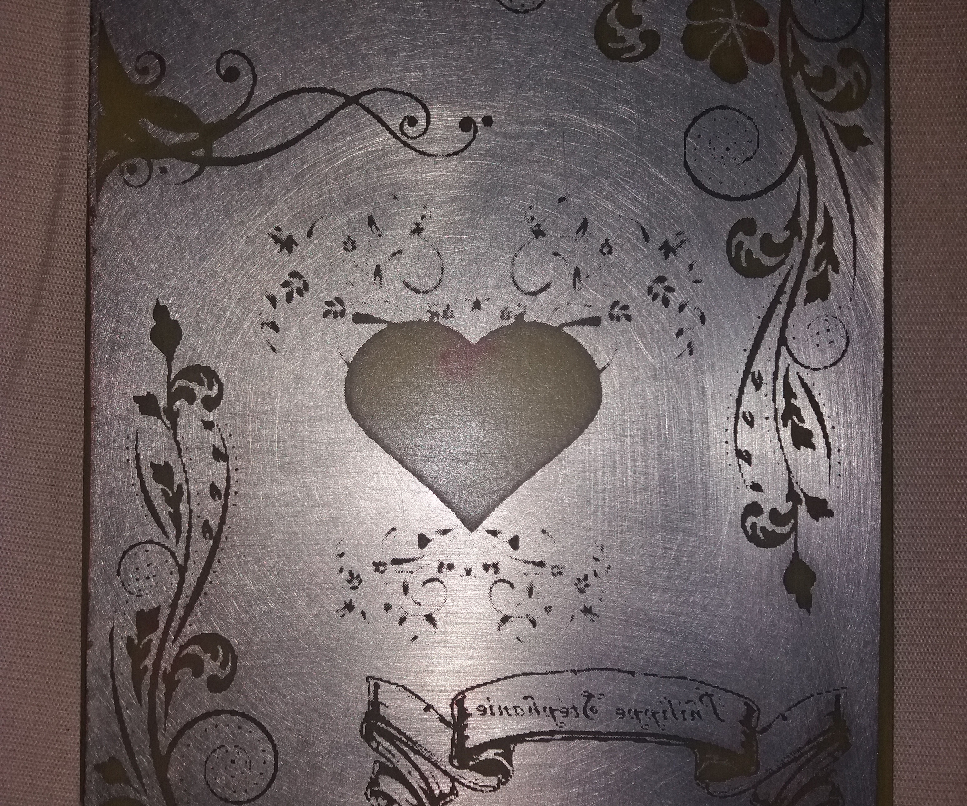 Copper Serigraphy for Valentine's Day