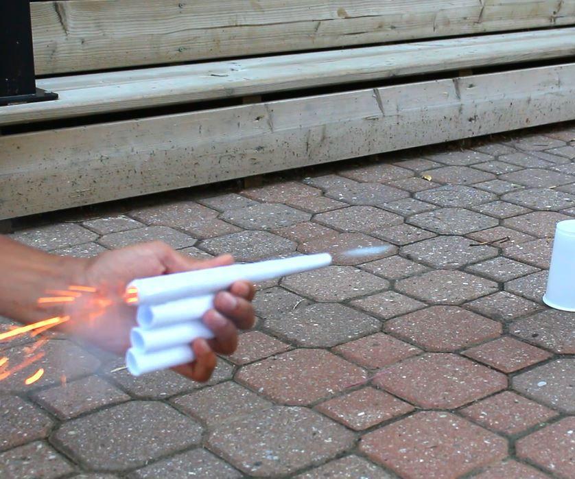 how to make a paper firecracker gun / paper canon