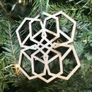 Geometric Christmas Lasercut Designs