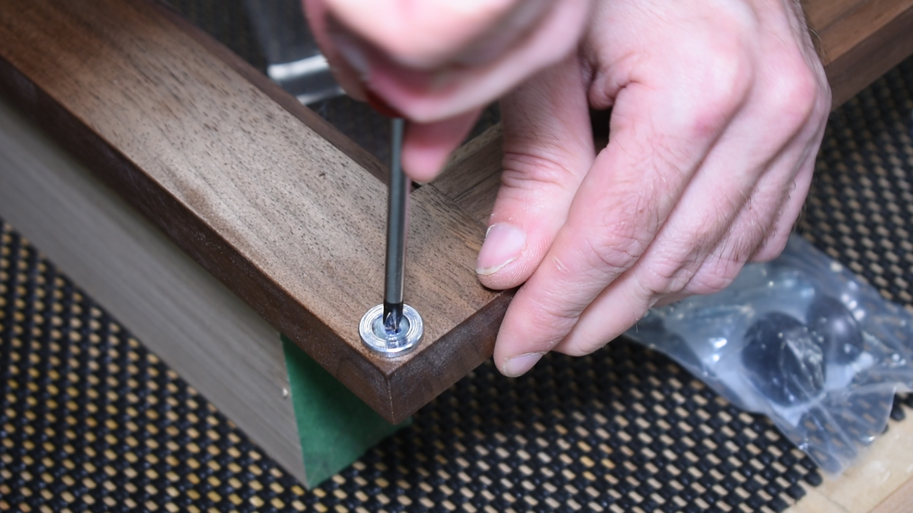 Install the Latch and Knob