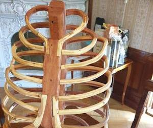 Handmade Wooden Rib Cage
