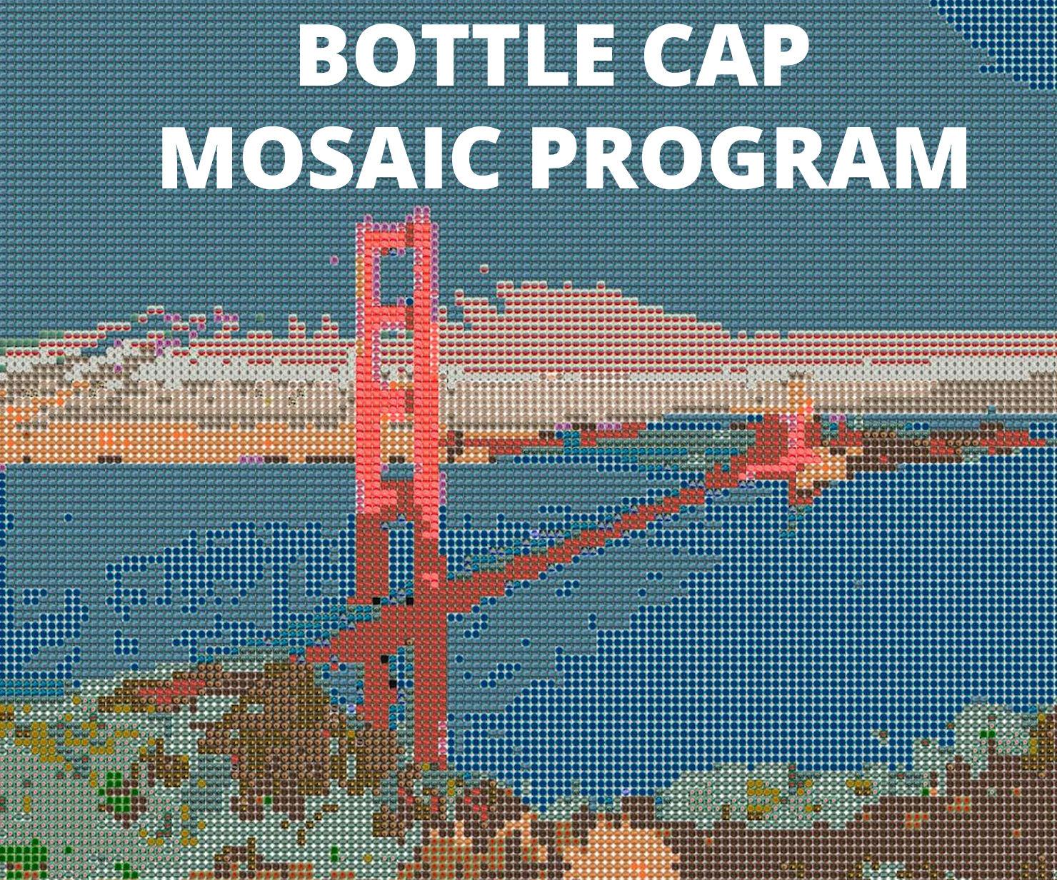 Open Source Beer Bottle Cap Mosaic Program