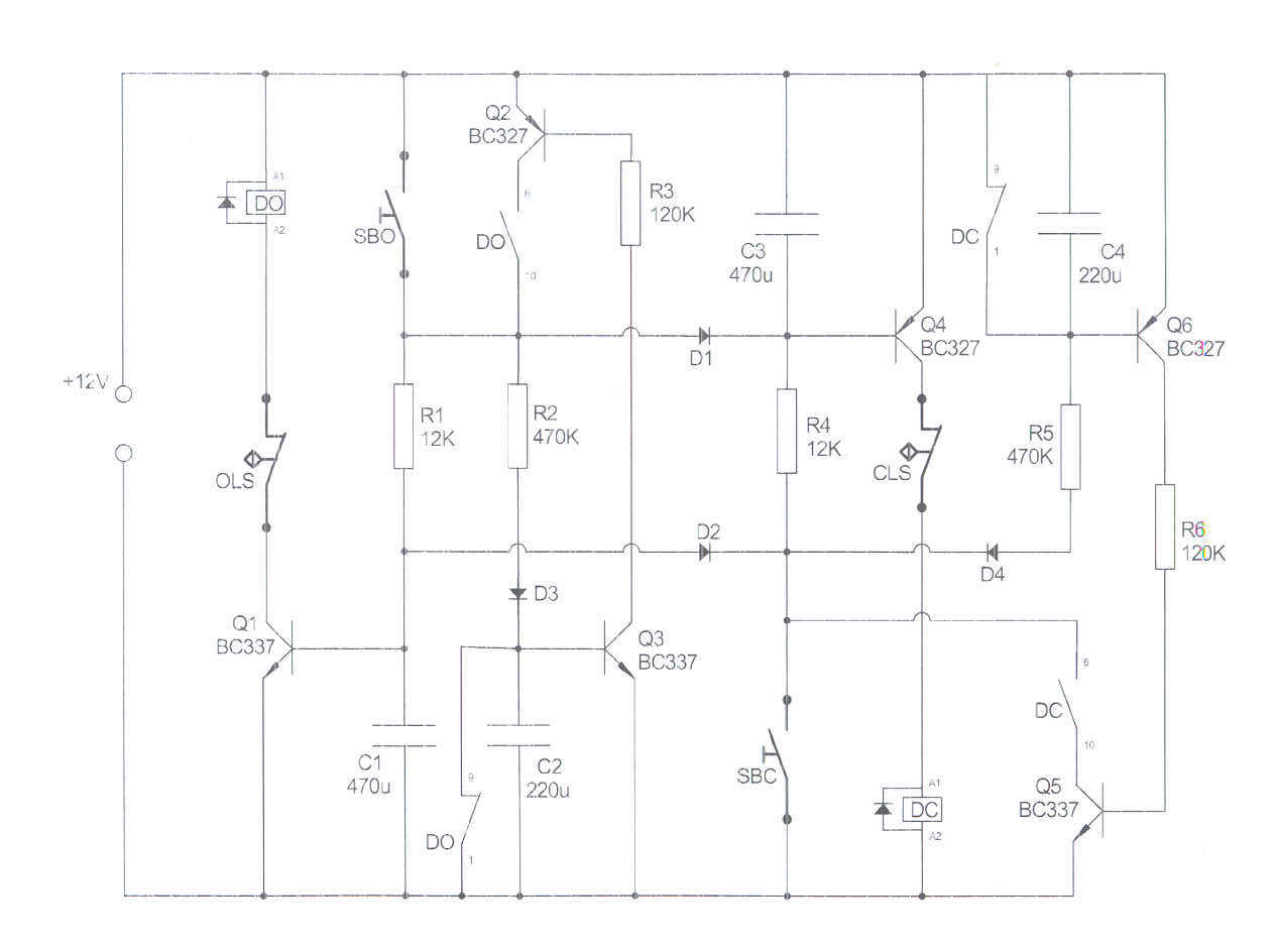 DIY relay motor driver