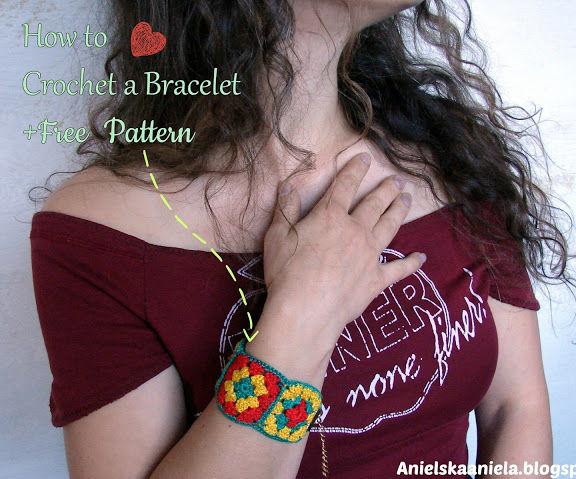 Crochet Bracelet With Free Pattern