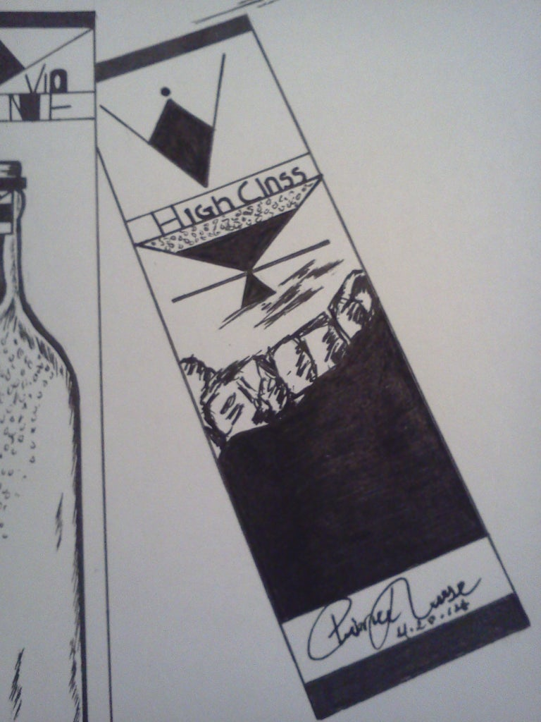 Drawing the Front of the Vio Wine Packaging: Fill In
