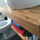 Parquet Covered Floating Vanity