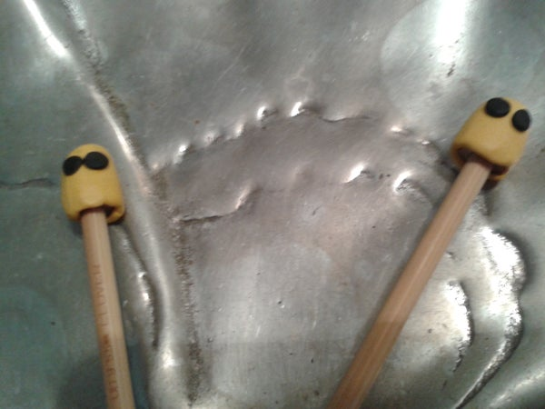 Sugru - Ghostly ZZ Top Knitting Needle Toppers