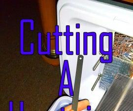 Cutting a Heatpipe Heatsink!