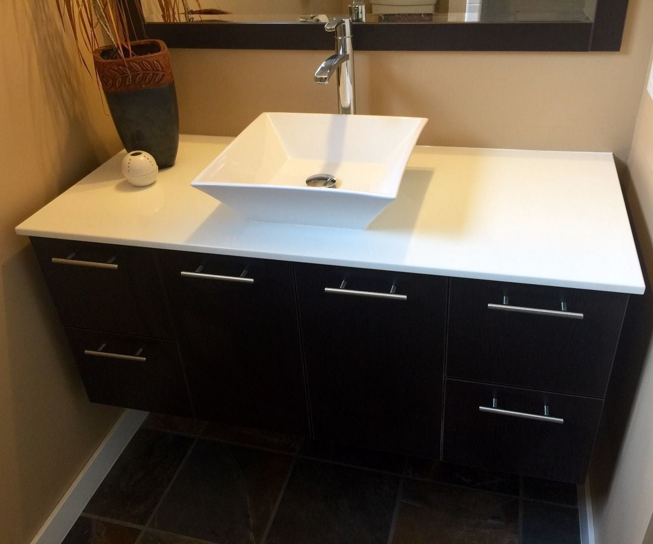 How To Install A Wall Hung Vanity 5 Steps With Pictures Instructables