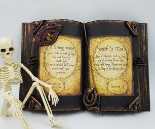 万圣节法术书由回收的书制成
