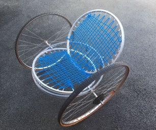 自行车轮子做的椅子