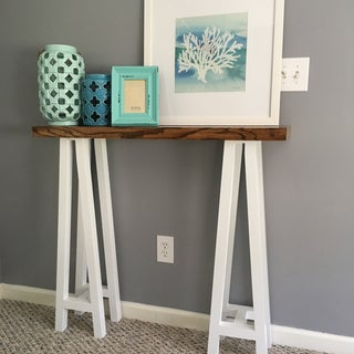 DIY TRESTLE CONSOLE TABLE