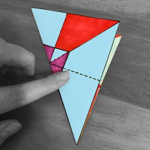 To Have More Flexibility on the Lines,  Fold the Paper Through the Diagonals