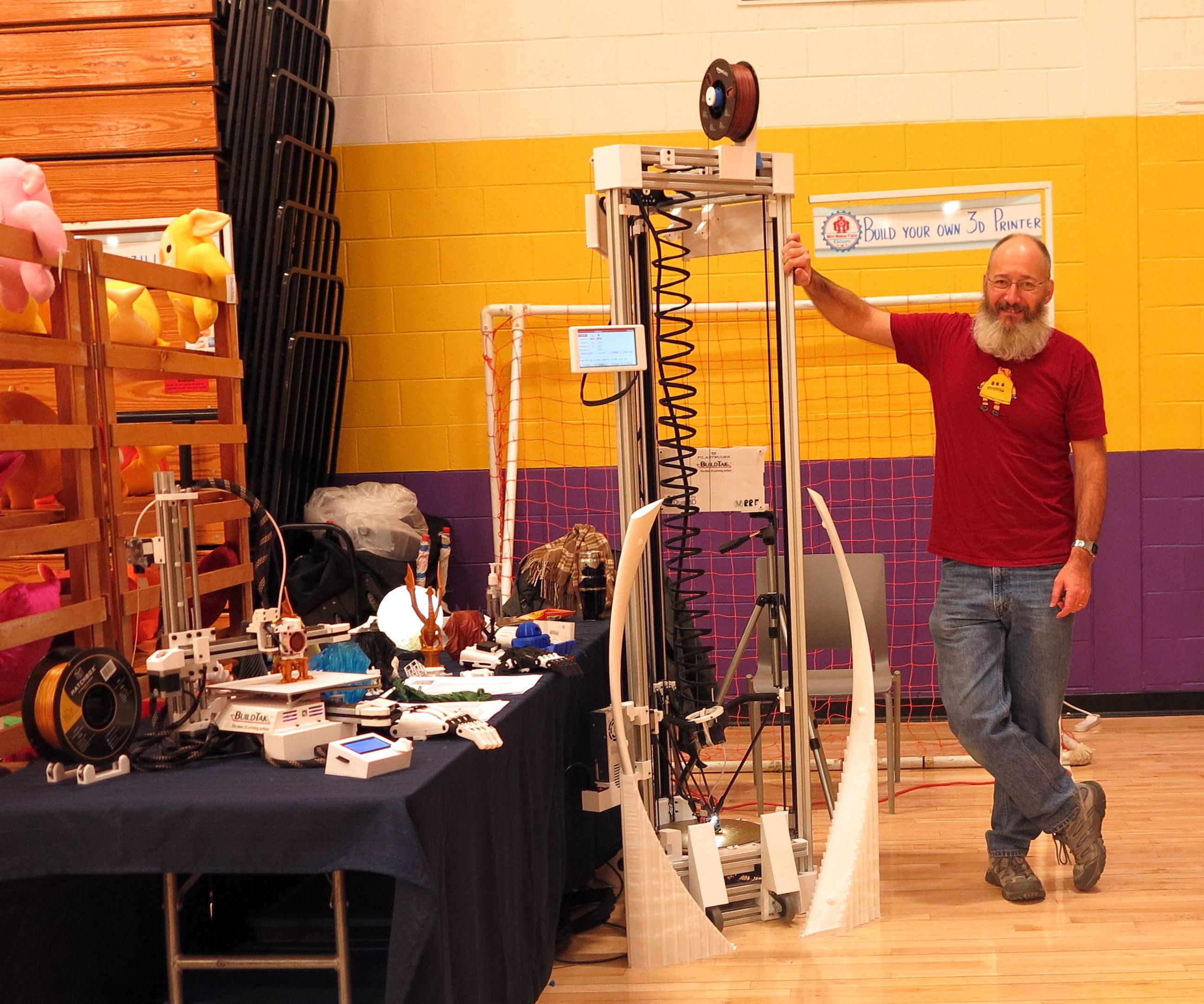3D Printer the C3Dt/bd (Big Delta)