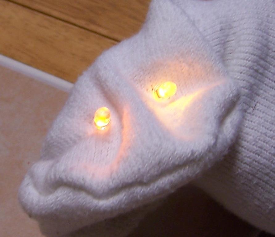 LED Sock Puppet!