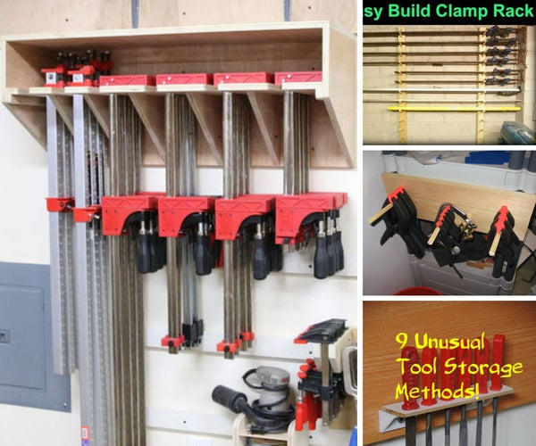 Awesome Clamp Racks | Organize Your Workshop!