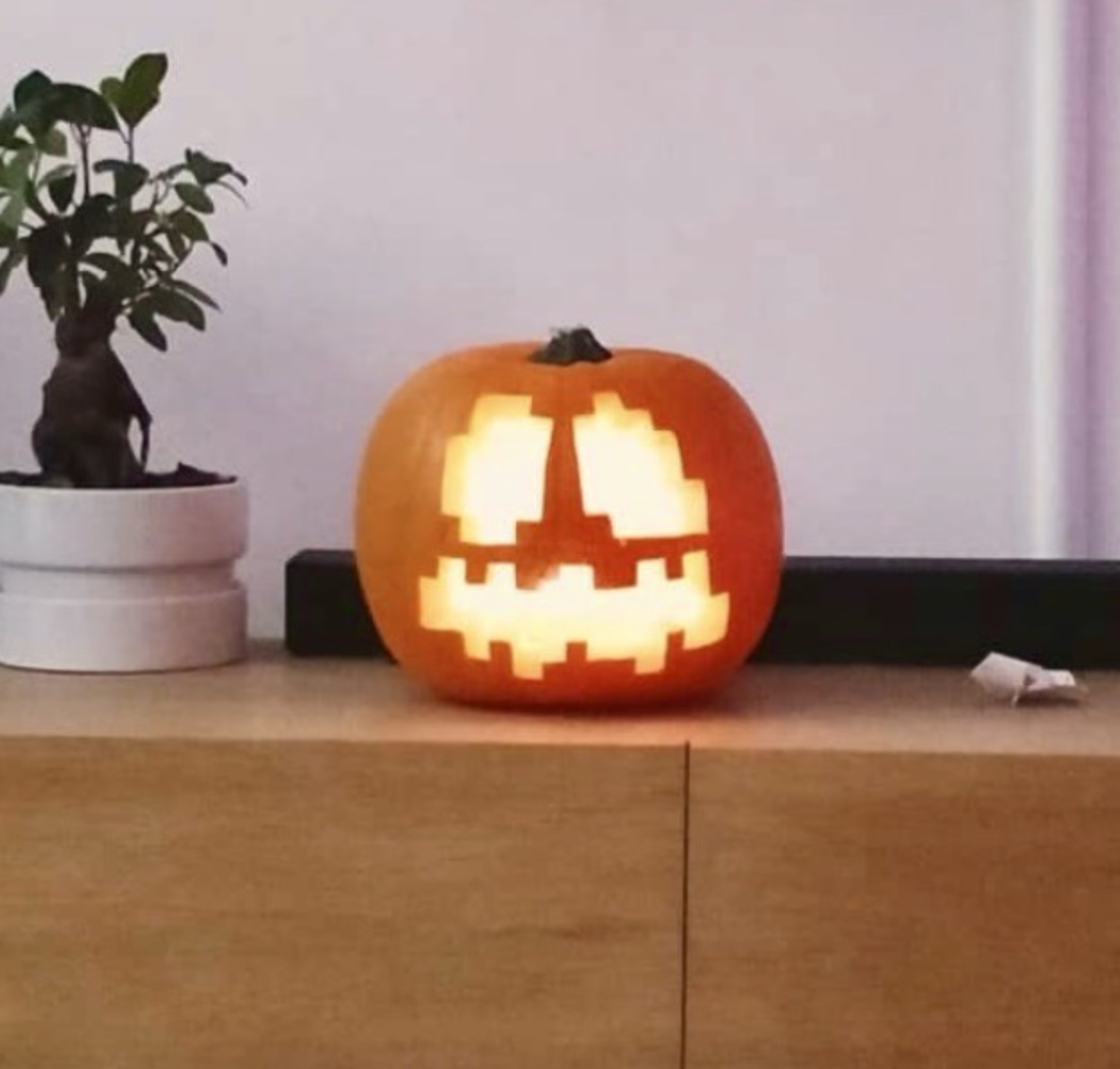 Minecraft Jack O Lantern For Halloween 4 Steps Instructables