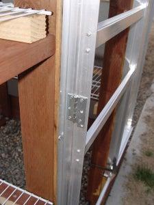 Attach Door to Greenhouse.