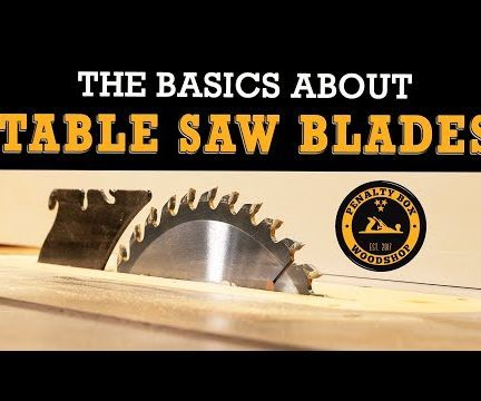The Basics About Table Saw Blades - Beginner Woodworking