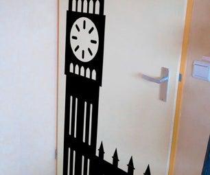Door Sticker in Illustrator