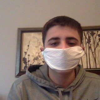 DIY Emergency Health and Safety Face Mask--Paper Towel and Rubber Bands