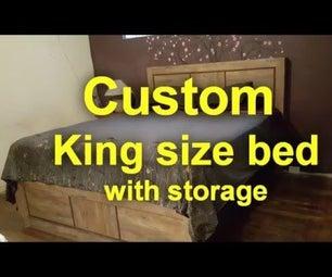 Custom King Size Bed Storage Box