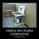Triple Bin Worm Composter - Vermicompost